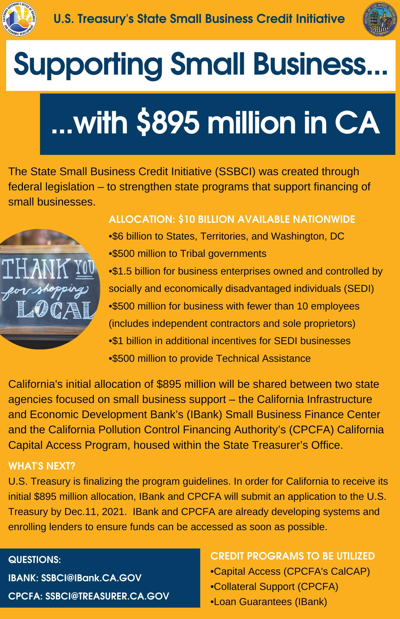 SSBCI Fact Sheet Sept. Final